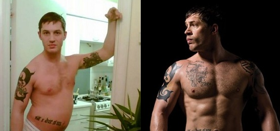 "Tom Hardy Muscle Growth For Movie ""Warrior"""