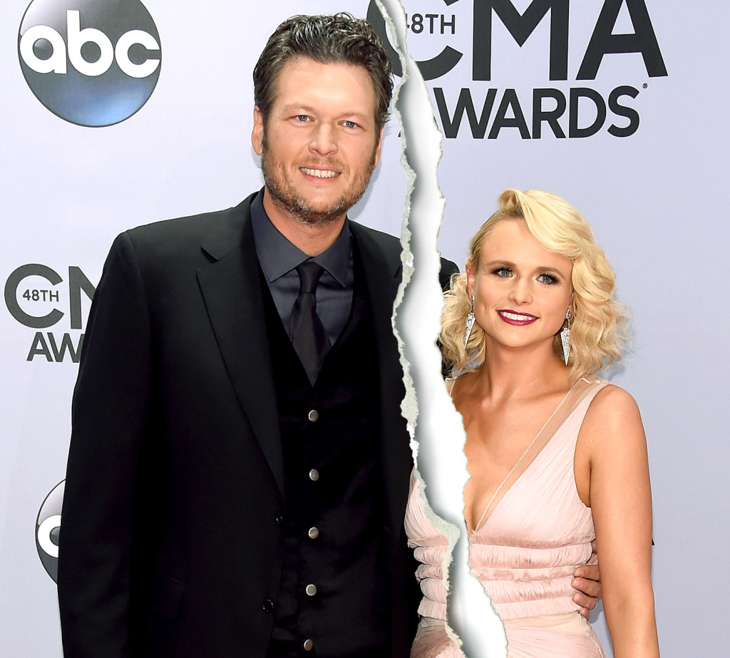 blake shelton and miranda lambert before divorce