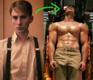 Chris evans captain america body join