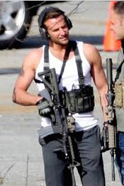 Bradley Cooper with gun