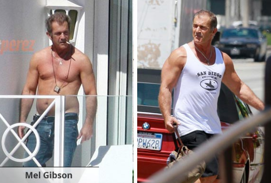 Mel Gibson Muscle Supplements
