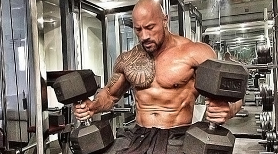 The Rock's Herculean Effort For Massive Gains- Workout and